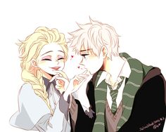 Elsa from Beauxbatons and Jack from Hoggarts