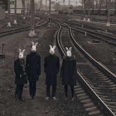 masks, dark