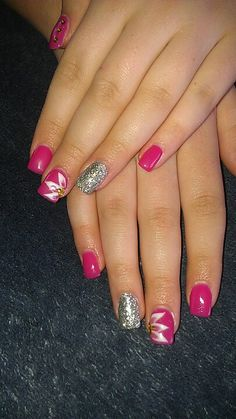 Pink lcn nails