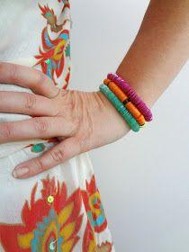 Little Treasures: Summer sequin bracelets tutorial