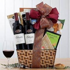 Wine Gift Baskets - Red Wine Gift Basket Red Blend Wine, Red Wine, Honey Crunch, Send Chocolates, Wine Gift Baskets, Gourmet Gifts, Sympathy Gifts, Wine Gifts, Wines