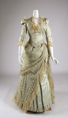 Another beautiful piece of work. After taking costume design classes in college, I have a lot of respect for costume designers. It really is an art. - Dress    1880-1885
