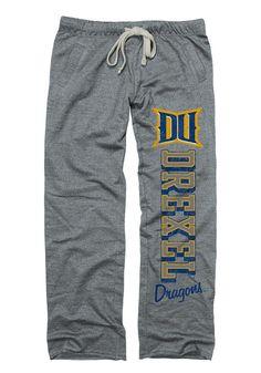 Drexel Dragons Womens Boyfriend Grey Sweatpants -Large