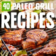 Grilling out is one of my favorite things to do, and with these grill recipes there's no shortage of things to pop on the grill and try out. paleo dinner for kids Best Paleo Recipes, Grill Recipes, Grilled Chicken Recipes, Meat Recipes, Healthy Dinner Recipes, Cooking Recipes, Kid Recipes, Paleo Meals, Amazing Recipes