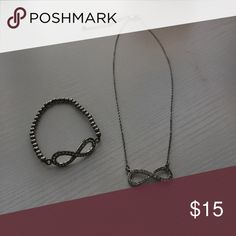 Matching infinity bracelet and necklace Matching silver infinity bracelet and necklace H&M Jewelry Necklaces
