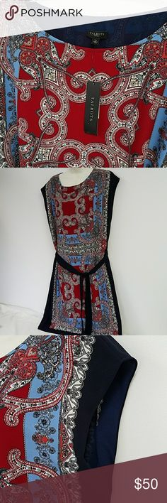 "New Talbots dress 16 petite paisley New with tags Cap sleeves Bust measure 44"" Length from shoulder 39"" Talbots Dresses Midi"