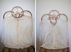 "vintage lace blouses, from ""closet visit"""