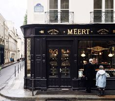 Used book cafe! Meert is a chocolate shop that looks very pretty, and it also has another option for getting a view of paris for free