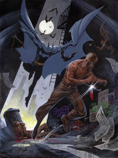 Batman vs Mister Zsasz by Norm BreyfogleThis is the latest Truthful Comics blog entry and this month's topic is none other than Mr. Norm Breyfogle. Enjoy and speedy recovery to my favorite Batman artist of all time! #GetWellSoonNorm #TruthfulComics #Batman http://www.truthfulcomics.com/blog/a-look-back-at-norm-breyfogle-on-batman