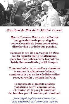 El Magazin de Merlo: Poema homenaje a la Madre Teresa de Calcuta, la po...
