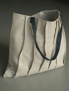 Love the simple tucks, am currently making a similar bag...square tote | Flickr