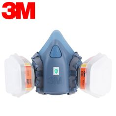 Ambitious 7502 Half Face Facepiece Respirator Silicone Silicone Painting Spraying Mask Fasteners & Hooks