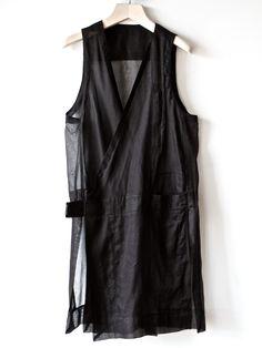 Rick Owens Vest. Monochrome Fashion, Dark Fashion, Minimal Fashion, Altered Couture, Fashion Now, Alexander Mcqueen, Unisex Fashion, Mode Style, What To Wear