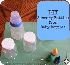 DIY Sensory Bottles from Baby Bottles | The Stay-at-Home-Mom Survival Guide