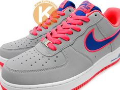 cd582ea145a4c Nike Air Force 1 Low – Grey   Hot Pink – Royal Blue (Jesień 2012