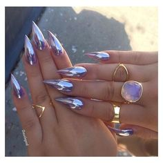 Chrome nail polish ❤ liked on Polyvore featuring beauty products, nail care, nail polish and nails