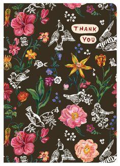 Nathalie Lete Greeting Card - Thank You 02