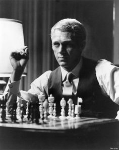 "Steve McQueen (1930 –1980) as Thomas Crown in ""The Thomas Crown Affair"", 1968. The other idea for the poster."