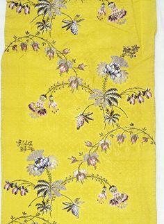 So beautiful 18thc. Huguenot silk.