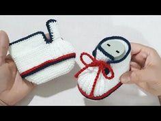 Crochet Toys Patterns, Baby Knitting Patterns, Knitting Stitches, Stuffed Toys Patterns, Baby Patterns, Crochet Shoes, Crochet Baby Booties, Crochet Slippers, Knitting Videos