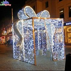 Source Holiday Led Street Motif 3d Gift Box Outdoor Christmas Light on m.alibaba.com Outdoor Christmas Light Displays, Christmas Arch, Christmas Lights Outside, Diy Christmas Lights, Christmas Yard Art, Xmas Lights, Decorating With Christmas Lights, Christmas Gift Decorations, Christmas Crafts
