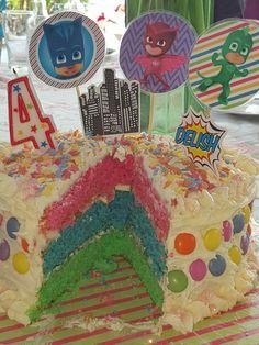 Avery's 4th Birthday Party Cake - PJ Masks
