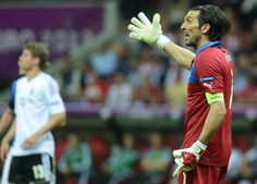 Euro Italy captain Gianluigi Buffon angry at tense finish despite win over Germany Toronto Fc, Euro 2012, Soccer Fans, European Championships, Germany, It Is Finished, Italy, Italia, Deutsch
