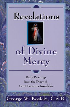 """Reflections of Divine Mercy"" includes 366 daily readings drawn from the original diary. Each month focuses on a particular theme in the diary: Love. Trust. Humility. Glory. Includes biographical information on Blessed Faustina and an explanation of various facets of the Divine Mercy devotion."