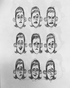 Ahmed Gamal — 😳😮😐😌😄 #facialexpressions #sketch #girl...