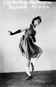 Rare Audrey Hepburn — Audrey Hepburn at the age of 12 in one of her dancers