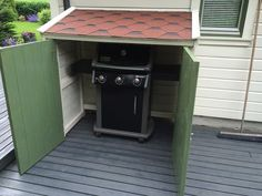 Good BBQ Grill Storage Shed