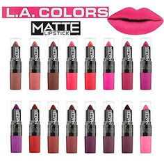 LA COLORS Flat Smooth Finish MATTE Lipstick 16 pc Set -- To view further for this item, visit the image link.