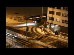 Die Kreuzung (crossroad) - 1.2.2012 - 18:29-22:29    Timelapse - Ebikon/Switzerland - Luzernerstrasse - View from my Atelier (Longversion)