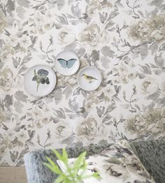 Interior Design Trend, Painterly Florals | Shanghai Garden Wallpaper by Designers Guild | Jane Clayton