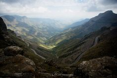 Mafika Lisiu Pass, Lesotho, Two Tracks - Travel Tips and Ideas Golden Gate, Continents, Roads, Landscape Photography, Grand Canyon, Travel Tips, Sky, Ideas, Heaven