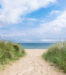 Entrance to the beach in Rugen island, Northern Germany