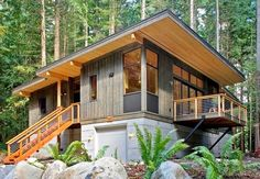 Mount Baker Vacation Rental - VRBO 195090 - 2 BR Northwest & Islands Cabin in WA, Mount Baker-New Green Prefab Cabin