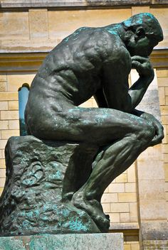 Auguste Rodin - The Thinker at Musée Rodin Paris France Auguste Rodin, Alexander Calder, Louise Bourgeois, Rodin The Thinker, Henry Moore, Important People In History, Antoine Bourdelle, Carpeaux, Famous Sculptures
