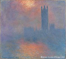 'Londres, Le Parlement. Trouée de soleil dans le brouillard', Claude Monet, 1904 (London, Parliament. A Patch of Sun in the Fog)