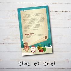 Personalised Letter from Santa Claus & Rudolph { Personalised Printable Download } on Etsy, $5.00 AUD Www.OliveEtOriel.Etsy.Com