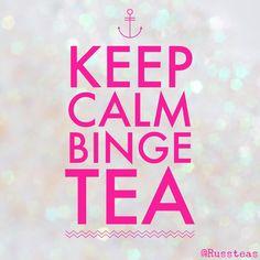 #tea #keepcalm #binge #teasquares
