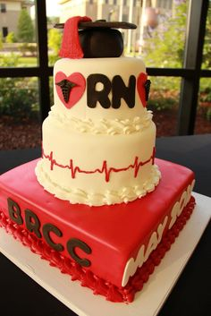 Would be an amazing graduation cake with BScN on the side instead! :) a girl can dream right hehe