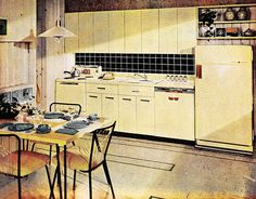 Who Put these Blue Dishes in this Yellow Kitchen?! | Flickr