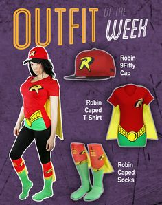 SuperHeroStuff's Outfit of the Week featuring DC's Robin!