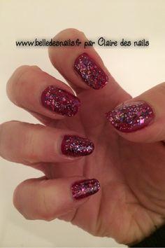 #nailart explosion de prune - Belle des nails