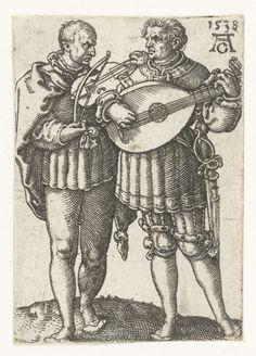 Twee muzikanten, Heinrich Aldegrever, 1538