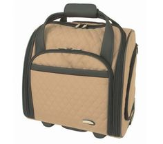 Travelon Wheeled Underseat Carry-On Bag with Back-Up Bag