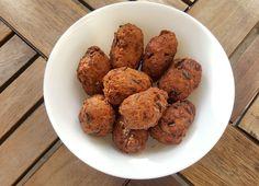 Kavaabu: Maldives smoked tuna, rice, chilli and coconut fried fish cakes.