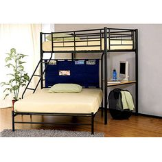 Winoma Twin over Full Bunk Bed, Black i want for my room!