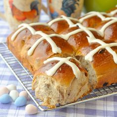 Perfect Hot Cross Buns - a traditional Easter treat yes but these gorgeous sweet rolls are sure to be appreciated at brunch any time of year you serve them.